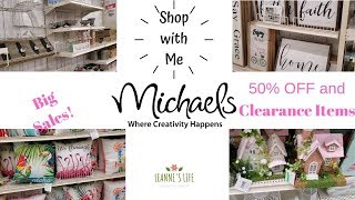 Shop with Me at MICHAELS Craft Store | Clearance | Summer and Spring Decor | Leanne's Life