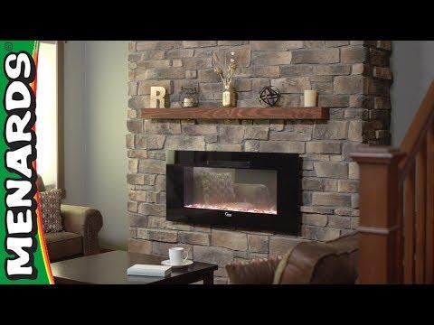 Stone Veneer Fireplace - Menar...