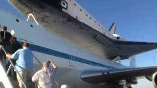 Space Shuttle Endeavour Landing Edwards AFB Tour Inside 747 & NASA