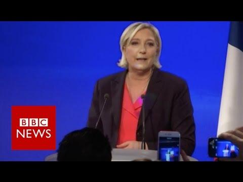 'France Has Chosen Continuity' - Le Pen - BBC News