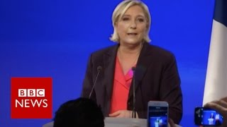 'France has chosen continuity' - Le Pen - BBC News