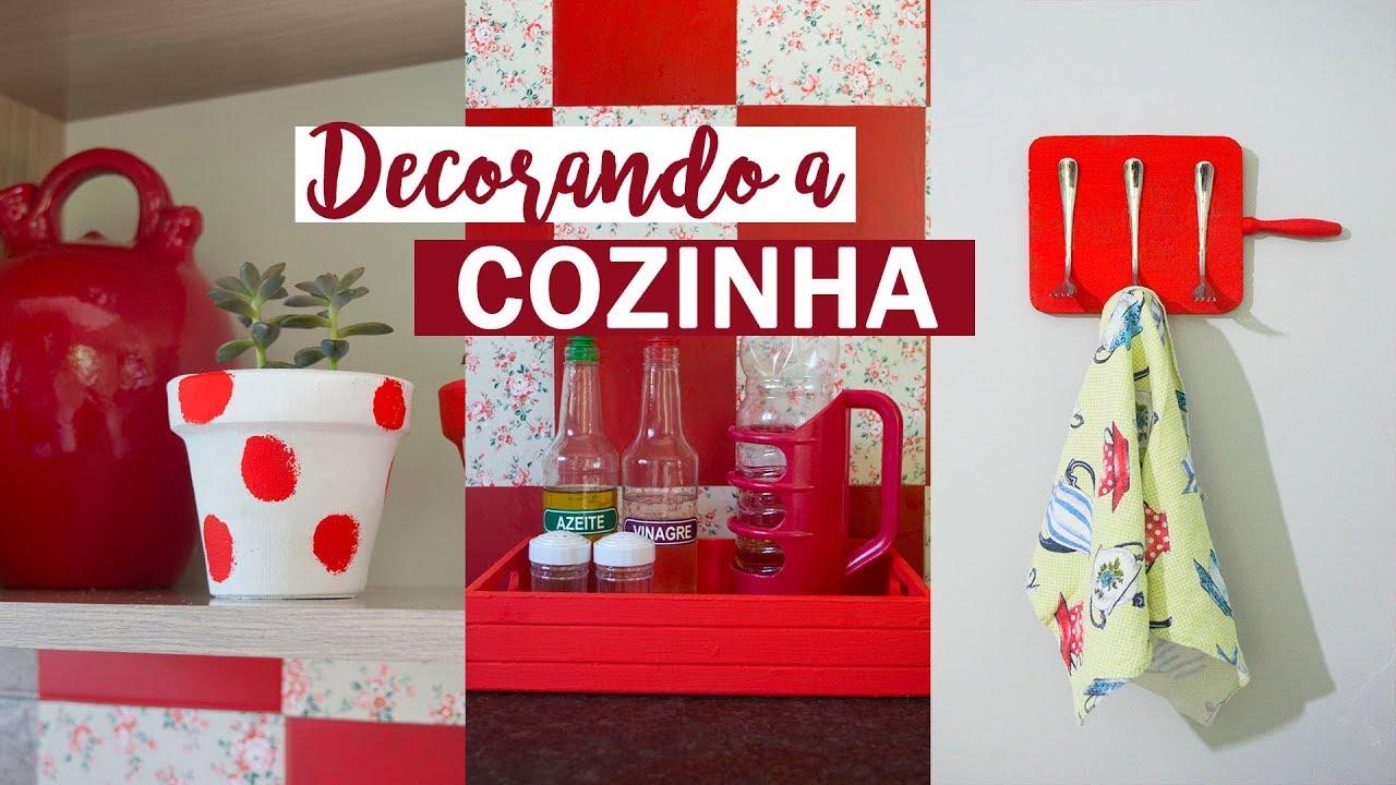 DIY Ideias FÁCEIS e BARATAS de decoraç u00e3o para a cozinha #4 #InaraTodoDia28 YouTube -> Decoração Cozinha Pequena Barata
