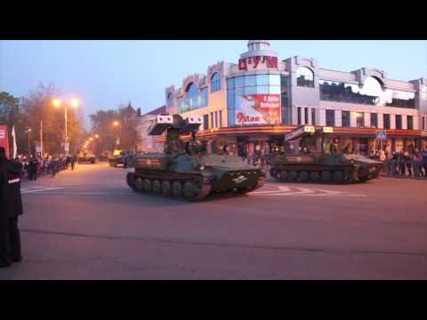 Rehearsal for Victory Day parade in Pskov 2016