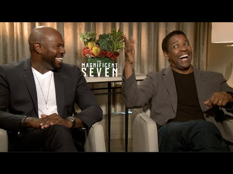 THE MAGNIFICENT SEVEN interviews - Denzel Washington, Chris Pratt, D'Onfrio, Bennett, Hawke