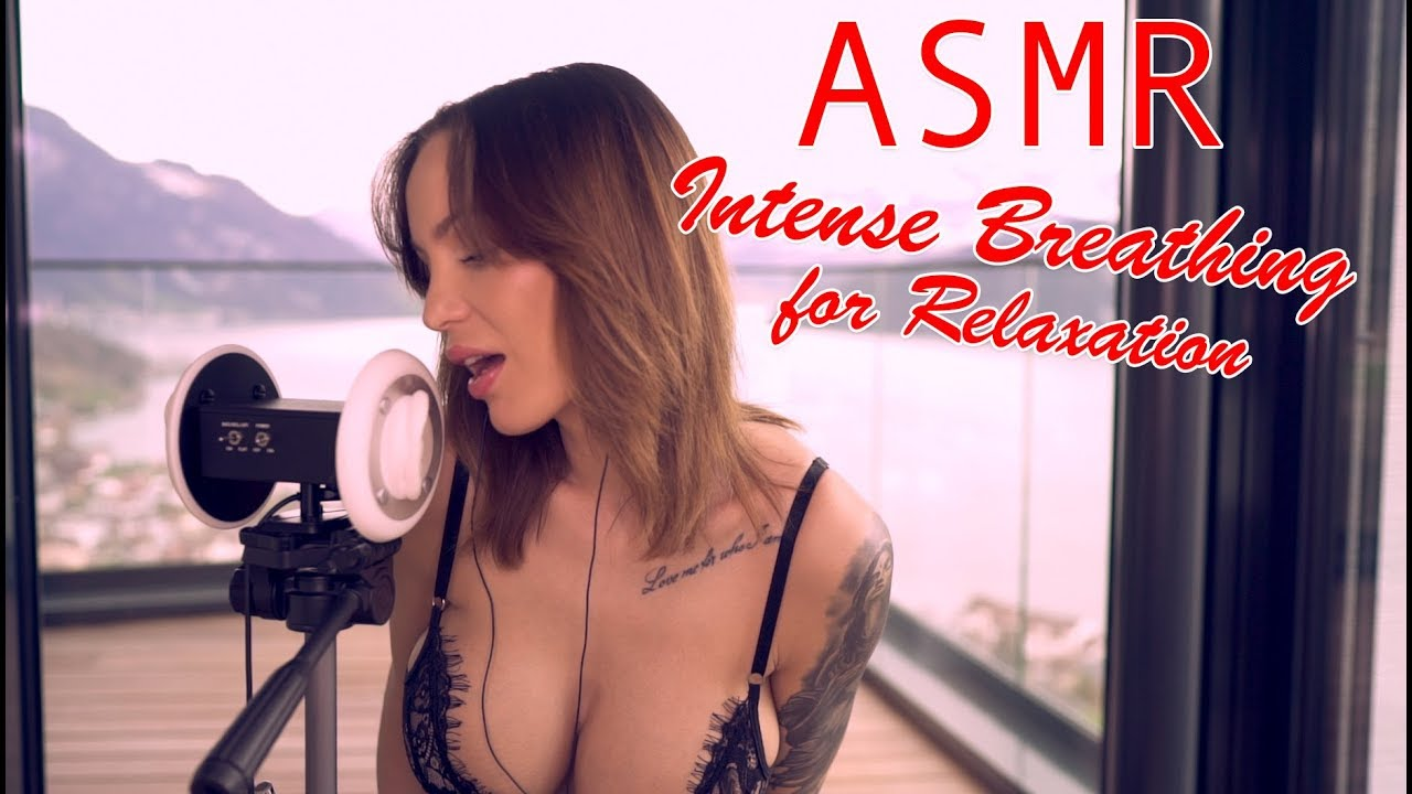 ASMR Intense Breathing and tingly Whispering for relaxation
