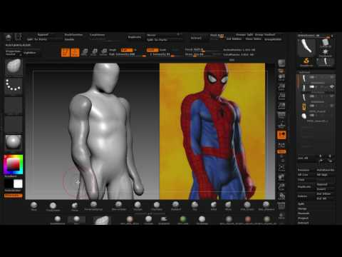 SCULPTING JOE JUSKO'S SPIDERMAN:  PART 3