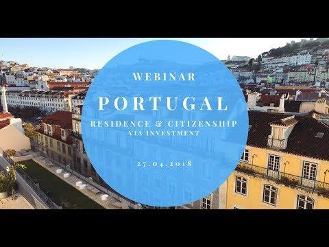 27 April Webinar Portugal Citizenship via Investment