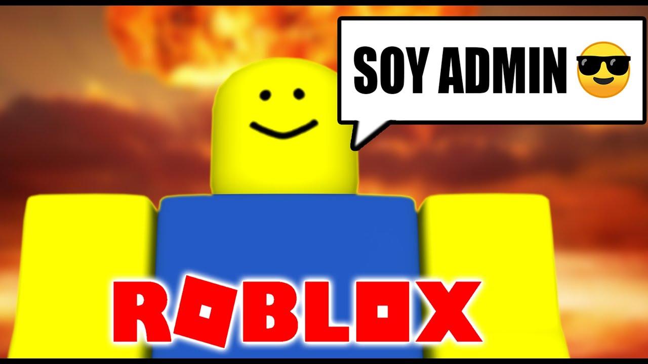 Lo que pasa cuando me dan Admin en Roblox :) - YouTube