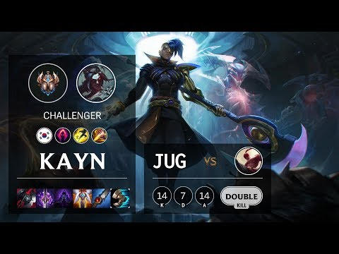 Kayn Jungle Vs Lee Sin - KR Challenger Patch 10.5