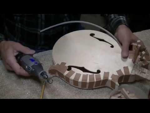 182 RSW Custom Rosa Mandolin Part 10 Binding