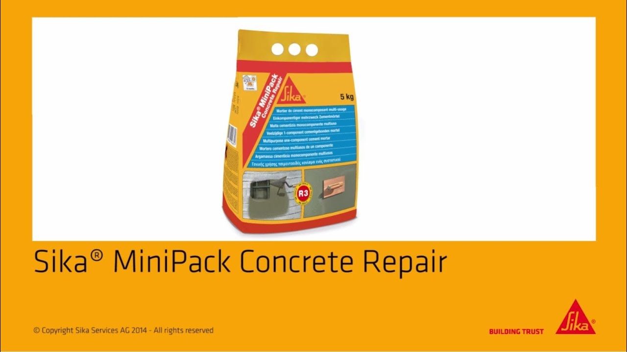 Sika Fire Rated Mortar Mix : Sika minipack concrete repair great workability youtube
