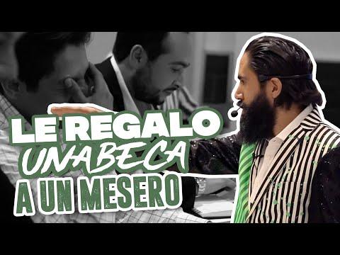 LE REGALO UNA BECA A UN MESERO   CARLOS MUÑOZ