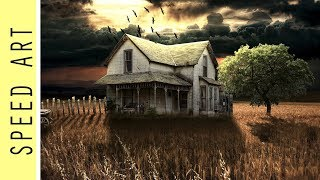 Speed Art - Alone house /#Photoshop/ #2