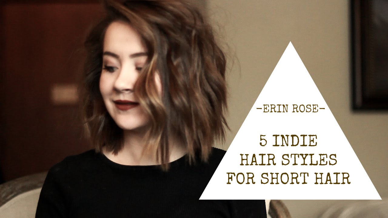 5 Hairstyles For Short Hair Erin Rose YouTube