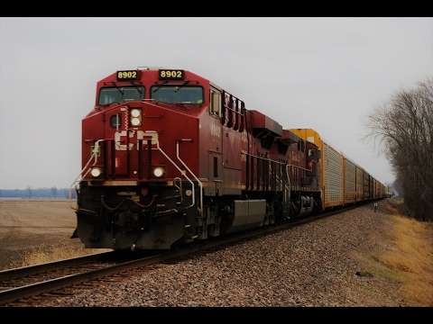 HD: January 2017 Trains w/NS, CP, CN, UP, BNSF, CSXT, LIRC, EMD Tier 4's, & More