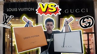 Gucci VS Louis Vuitton Challenge! Which Is better ? (Designer Shopping)