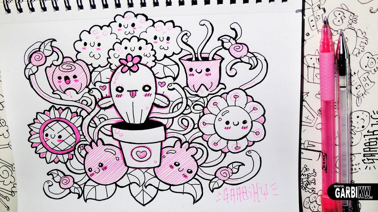 Cute Kawaii Pastel Wallpaper Kawaii Flowers Hello Doodles Easy Drawings By Garbi Kw