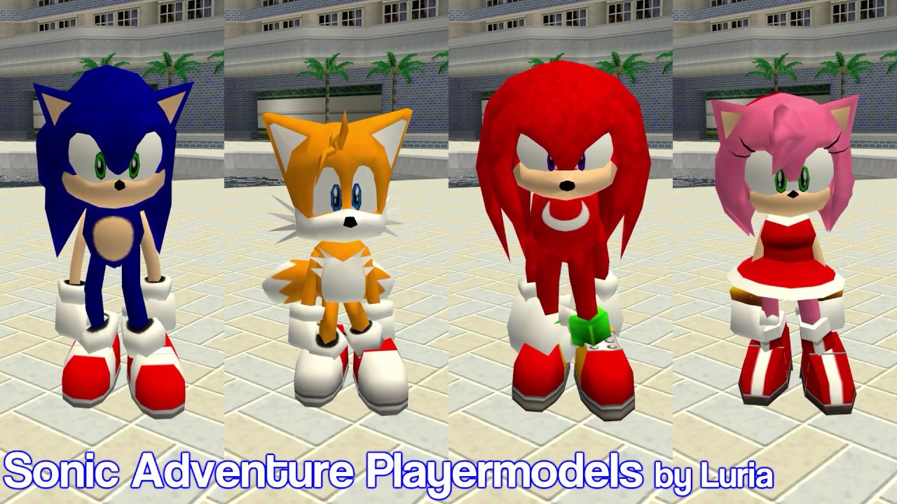 Sonic Adventure Playermodels - Garry's Mod Addon (Early Showcase)