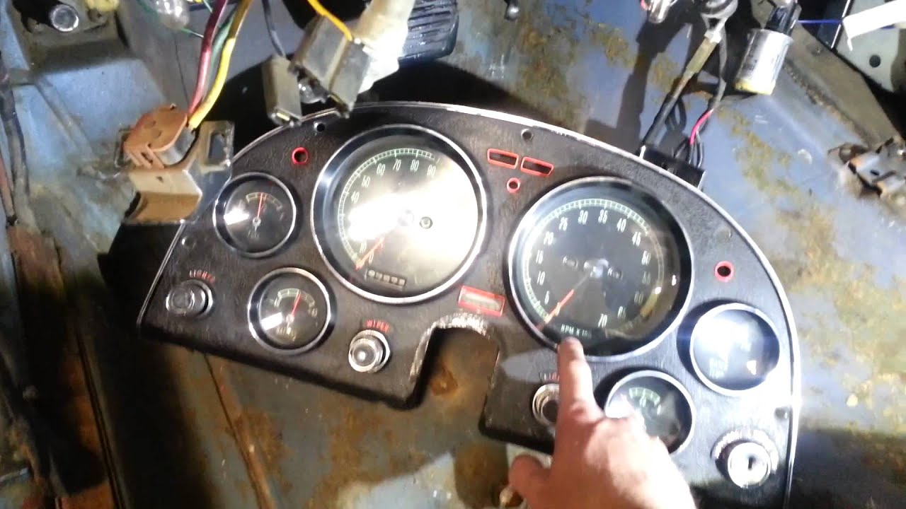 40 Corvette Instrument cluster removal