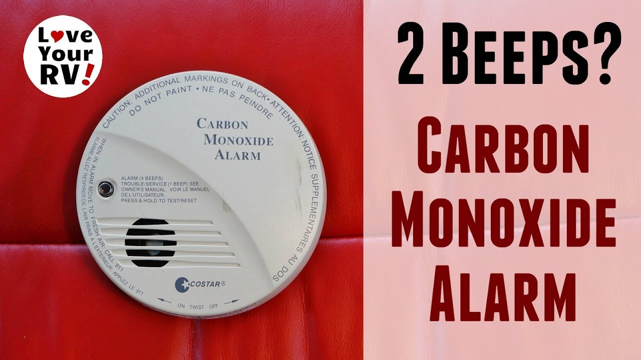 hight resolution of my rvs carbon monoxide detector was beeping twice