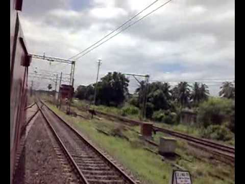 2302 Rajdhani Express shifting the tracks from the Main to chord at Shaktigarh
