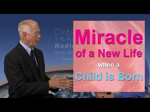 Miracle of a new life when a child is born