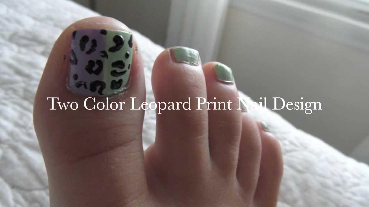 Springsummer leopard toe nail design tutorial youtube prinsesfo Gallery