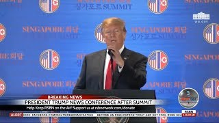🔴WATCH: President Donald Trump News Conference After North Korea Summit 6-12-18