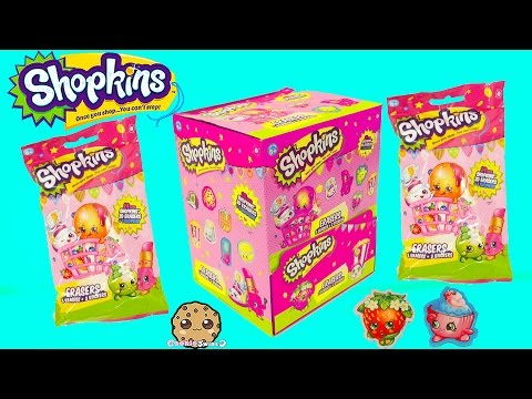 5 Surprise Eraser Blind Bags  With Stickers + Season 4 Mystery Shopkins -Cookieswirlc Video
