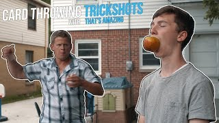 Card Throwing Trick Shots | That's Amazing | Rick Smith Jr.