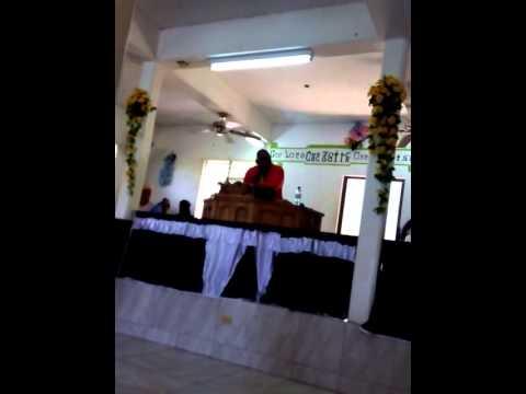 Bro Ferron ministering at Beaulah Apostolic Long Bay Part 2