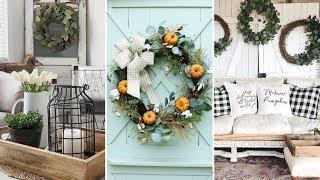 ❤DIY Rustic Farmhouse style Wreath decor Ideas❤ | Rustic home decor | Flamingo Mango
