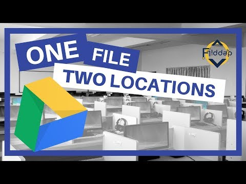 One file in two Folders without copying. In Google Drive, it's possible!