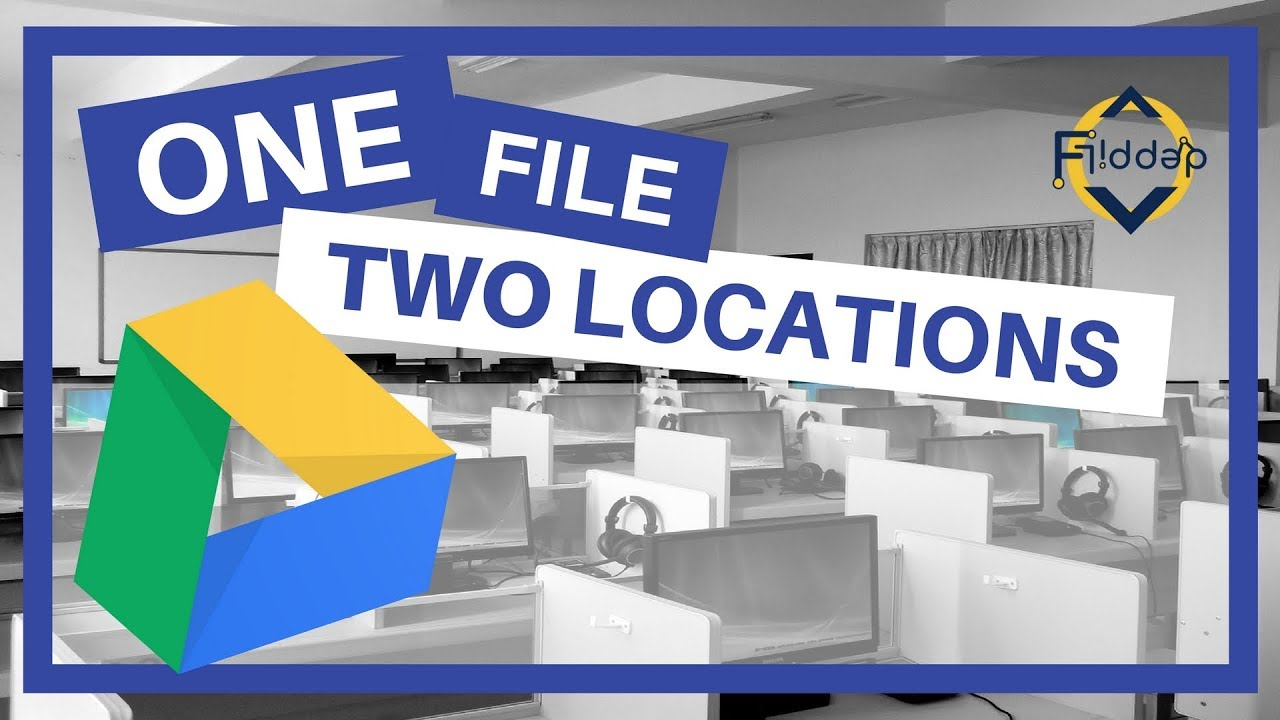 One file in two Folders without copying  In Google Drive, it's possible!