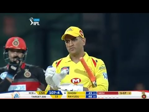 RCB VS CSK 24th match highlights*RCB 205/8 *CSK won by 5 wkts((PLAYER OF THE MATCH MS Dhoni