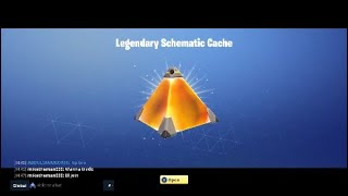 LEGENDARY SCHEMATIC CACHES?! Another Way To Get Good Legendaries?!! Fortnite Save The World
