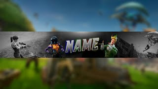 FORTNITE FREE TEMPLATE BANNER (new videos)