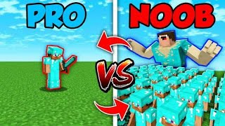 Minecraft NOOB vs. PRO : SWAPPED ARMY BATTLE in Minecraft (Compilation)