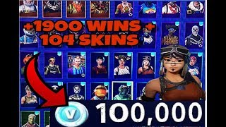 ONE OF THE MOST EXCLUSIVE FORTNITE ACCOUNTS IN SPAIN! +1900 WINS +100 SKINS