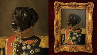 How To Make a Fun Oil Painting Pet Portrait in Photoshop screenshot 5