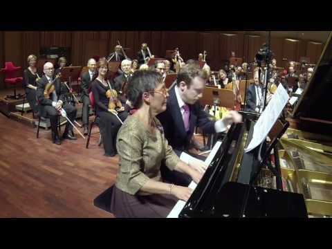 Maria João Pires and Daniel Harding in Grieg's Peer Gynt Suite No.1 Morning Mood, piano four hands