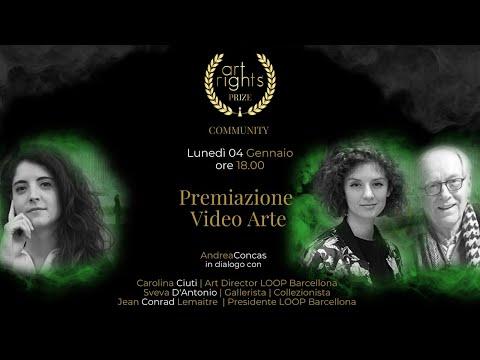 Premiazione Categoria Video Arte Art Rights Prize 2020 #LIVE