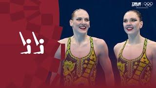 Синхронное плавание жен Дуэт Техническая программа Квалификация Олимпиада 2020 Обзор