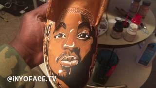 Custom King Tupac Shakur Timberland Boots Part 3