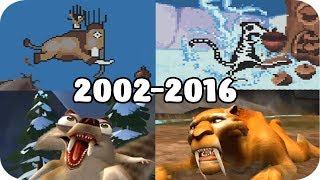 All Ice Age Video Games Evolution Compilation (2002 - 2016)