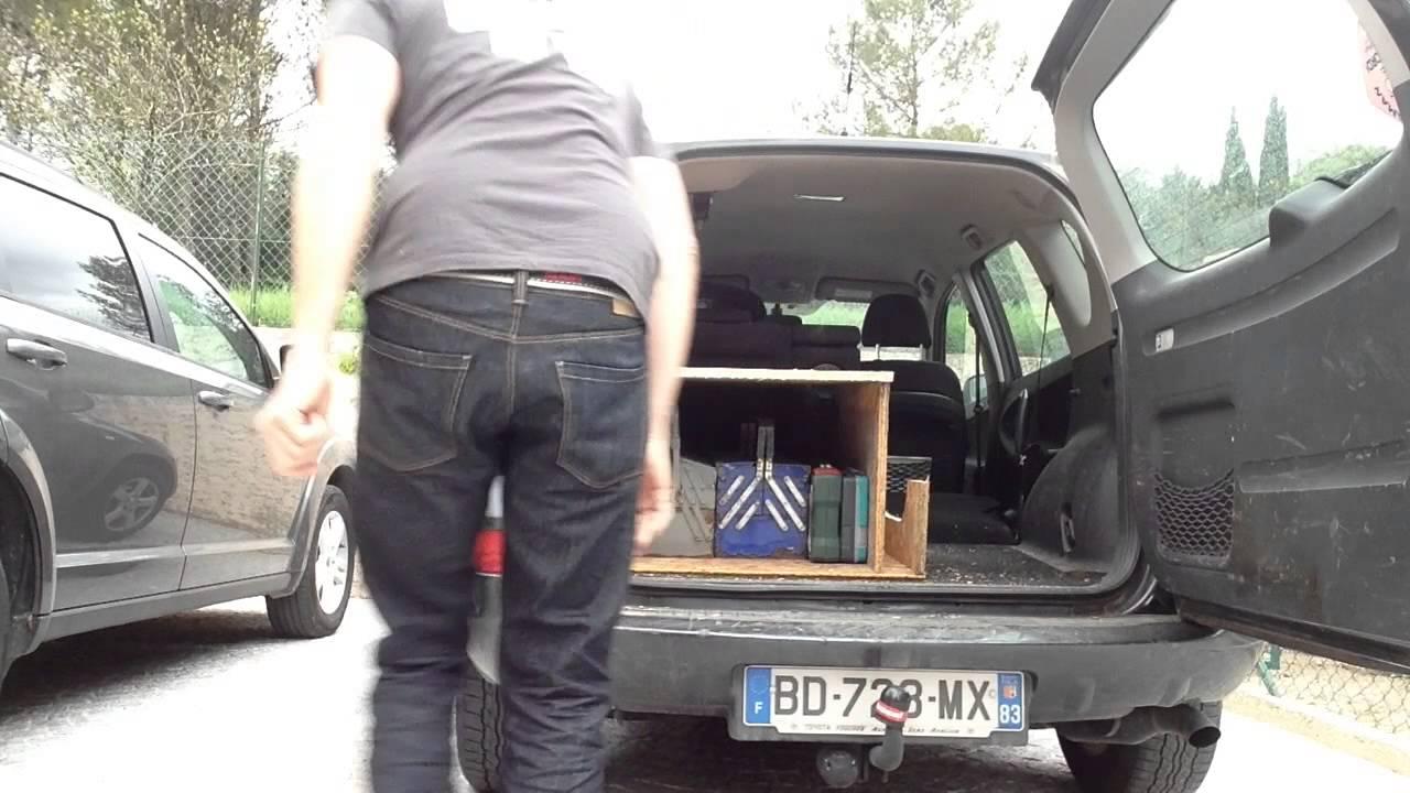 comment optimiser l 39 espace de mon coffre de voiture youtube. Black Bedroom Furniture Sets. Home Design Ideas