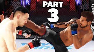UFC 4 Career Mode Gameplay Walkthrough Part 3 - FASTEST KNOCKOUT & FIRST UFC FIGHT