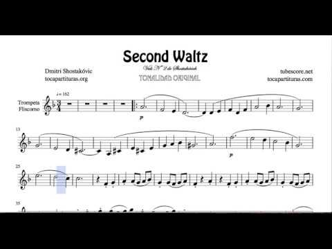 Second Waltz by Shostakovich Sheet Music for Trumpet and Flugelhorn