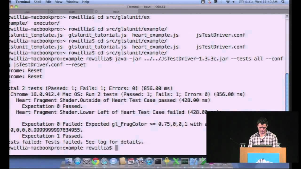 GTAC 2011: Developing and Testing WebGL