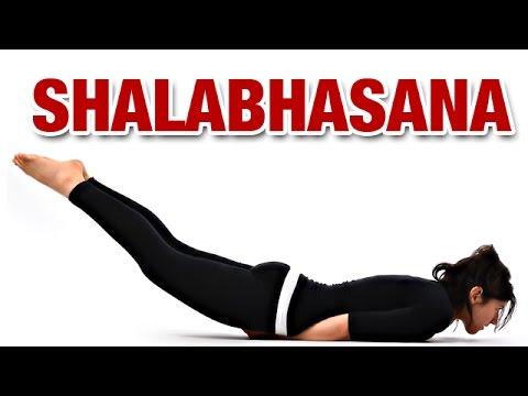 Ardha Shalabhasana - Half Locust Yoga Pose